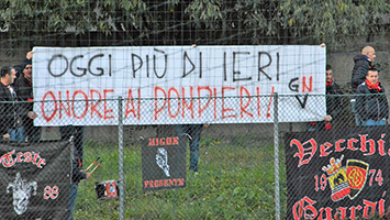 striscione pompieri ultras tn